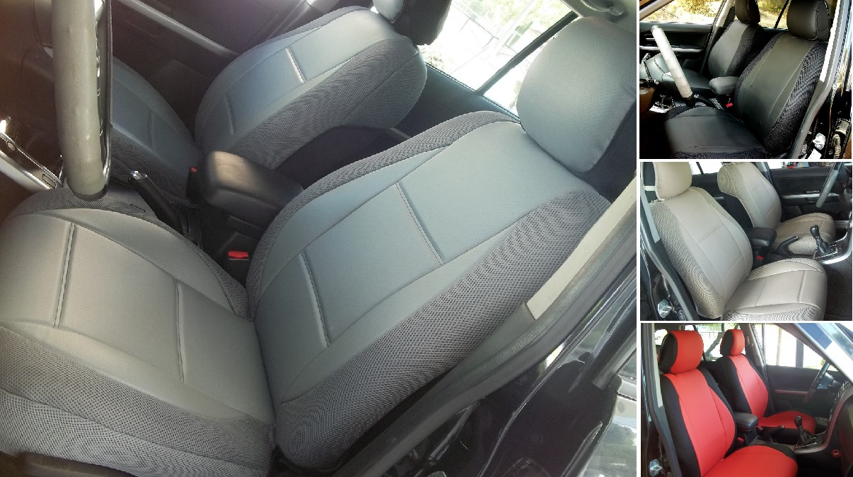 Car seat covers fit Mitsubishi Outlander full set black leatherette//polyester