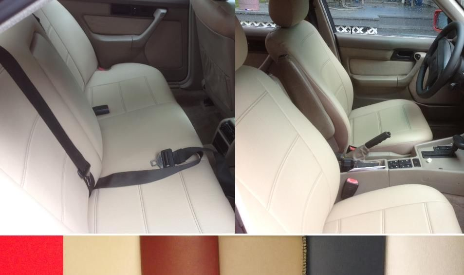 GREY Padded Leather Look Car Seat Covers Full Set Mercedes A Class