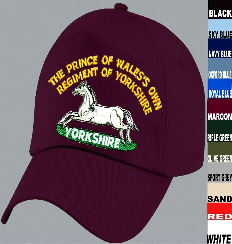 PRINCE OF WALES/'S OWN  REGT OF YORKSHIRE CAP BADGE PRINTED ON A SWEATSHIRT.