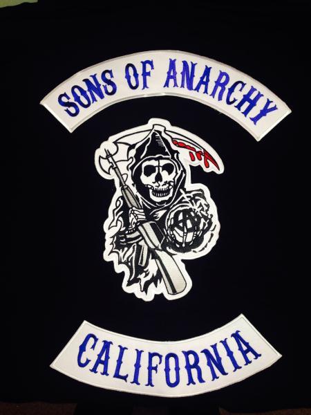 Official Licensed Sons Of Anarchy Black SAMCRO Men Of Mayhem Hoodie S-XXL
