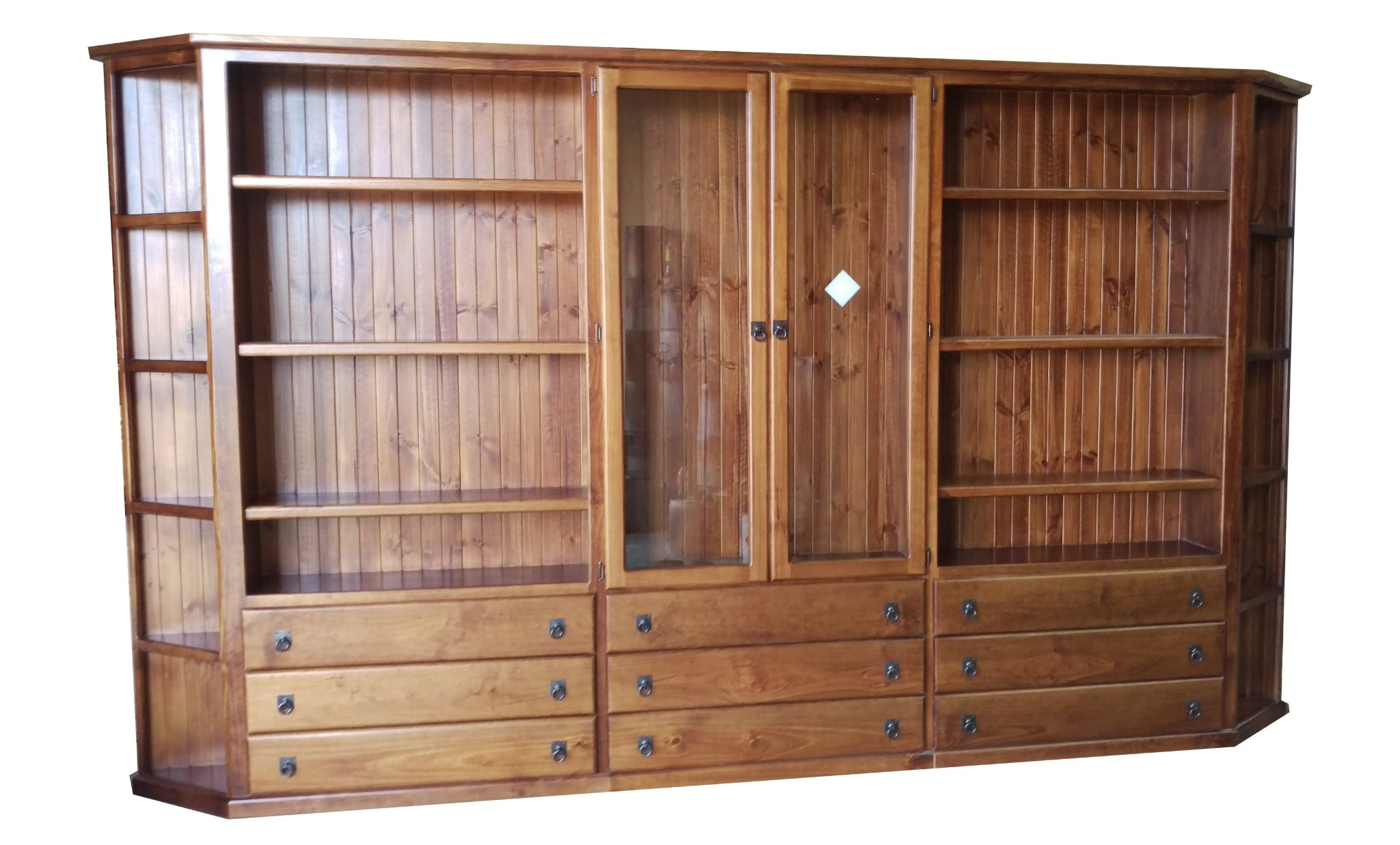 Custom Bookcase Wall Units With Corners