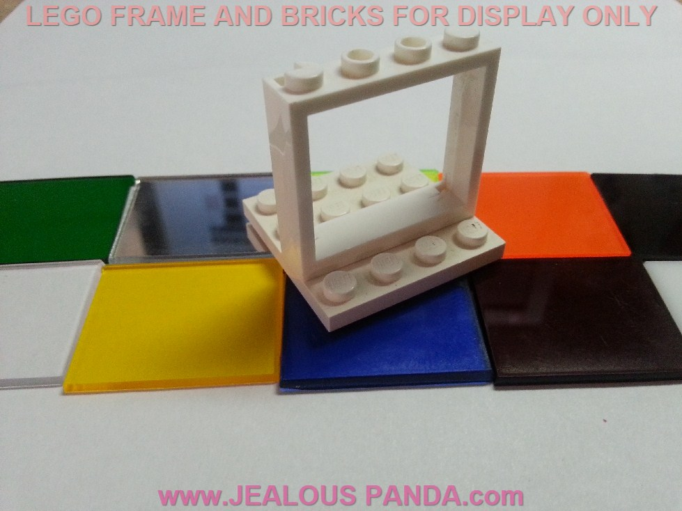 Lego cristal transparente amarillo trans-Yellow Glass Window 1x4x3 Circle 3855a