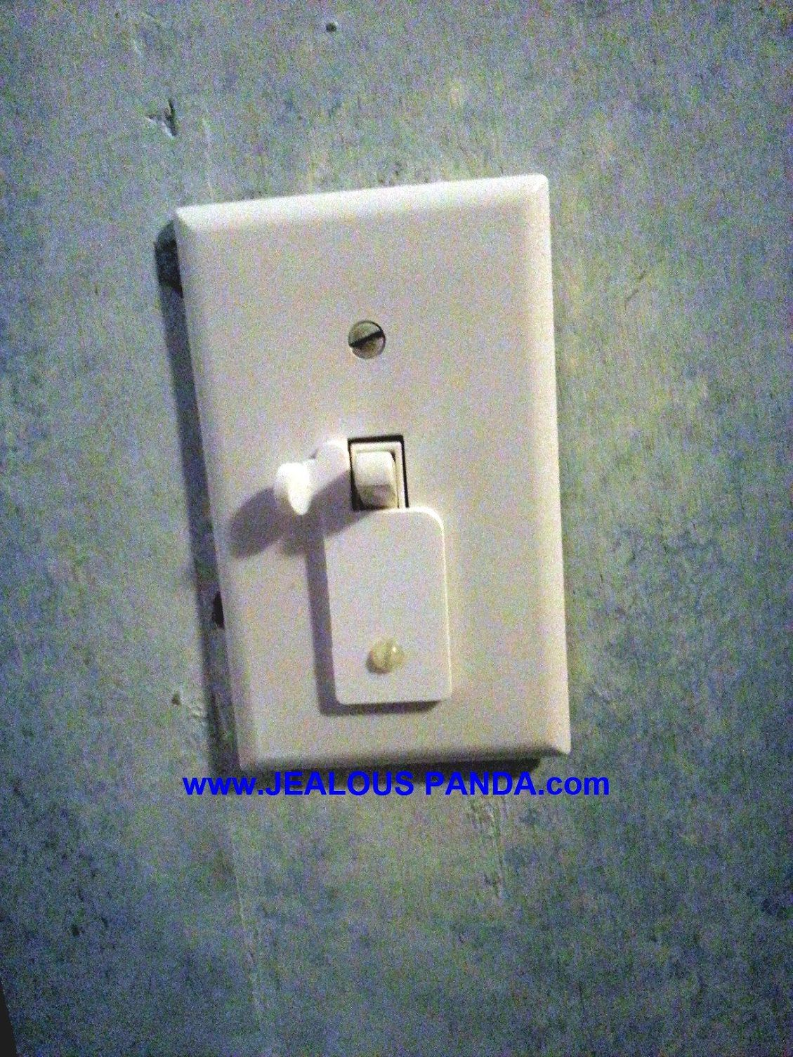 TOGGLE LIGHT  SWITCH LOCK ON OR LOCK OFF COVER