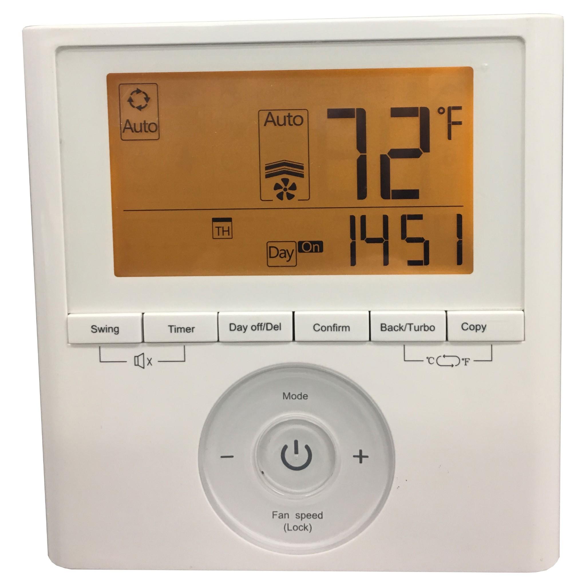 Midea Deluxe Wall Thermostat With Weekly Schedule Ksacn0401aaa Ksacn0501aaa