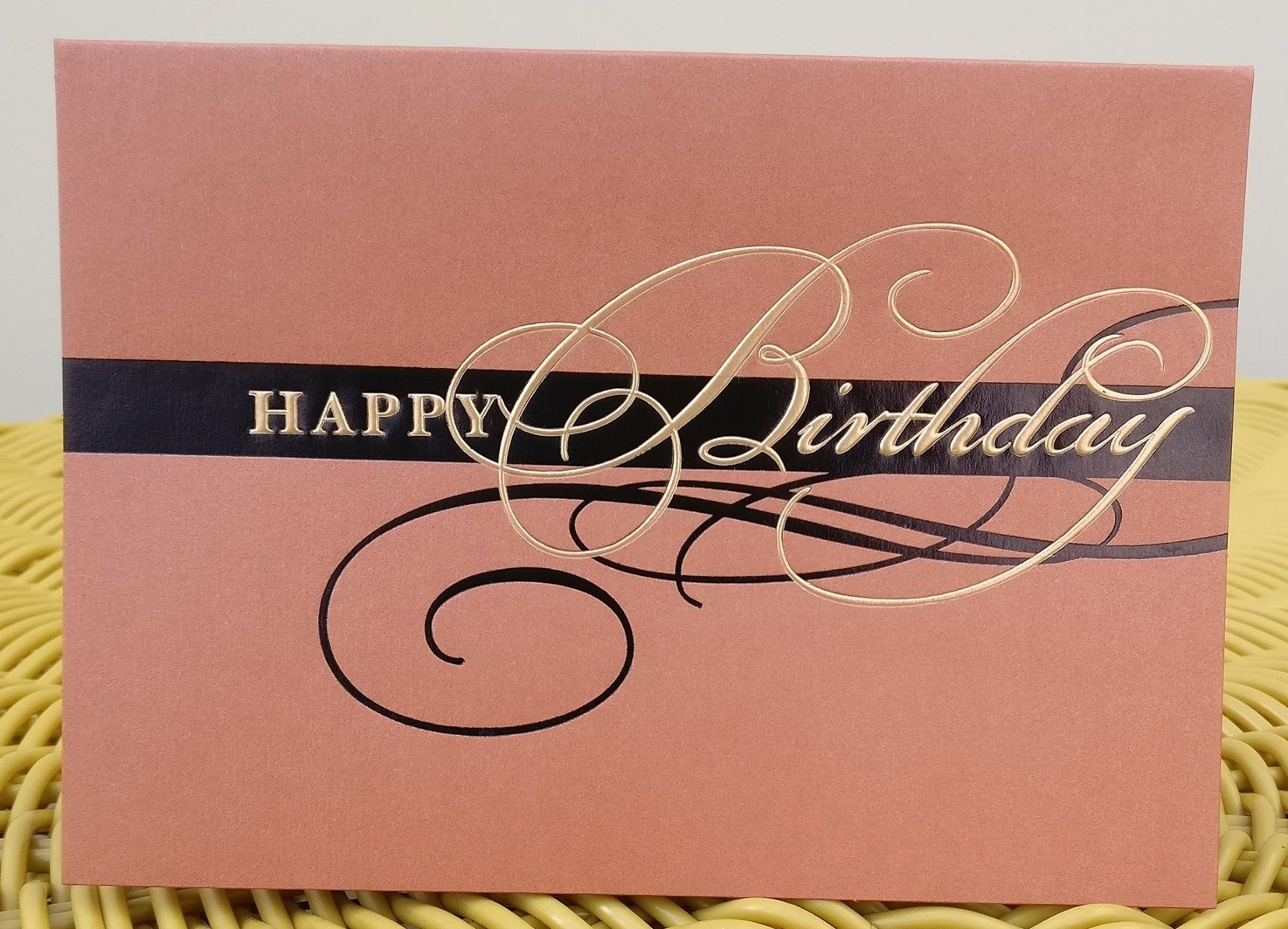 Embossed birthday Braille tactile card with personalised Braille message