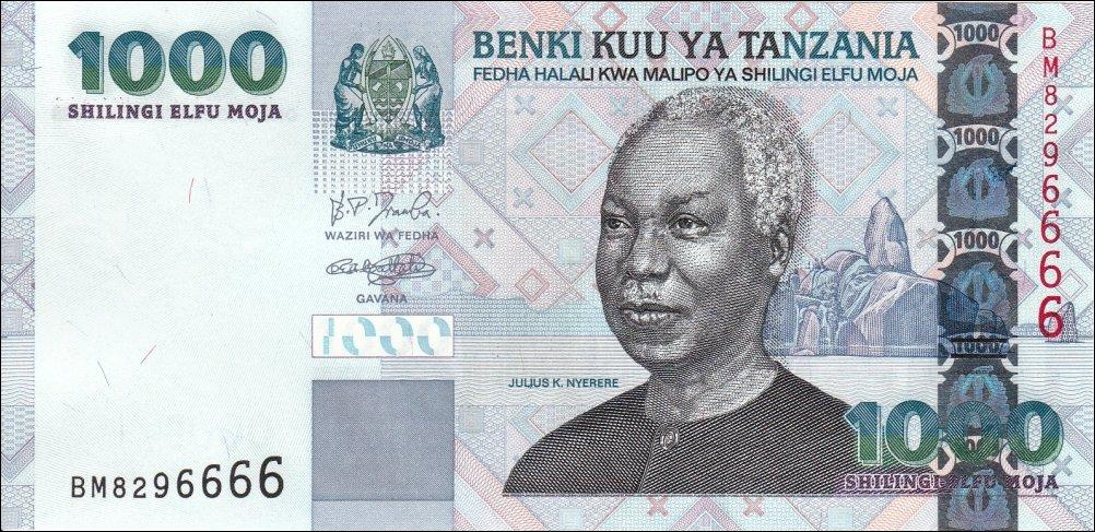 2006 UNC P-36b Tanzania 1000 1,000 Shillings ND