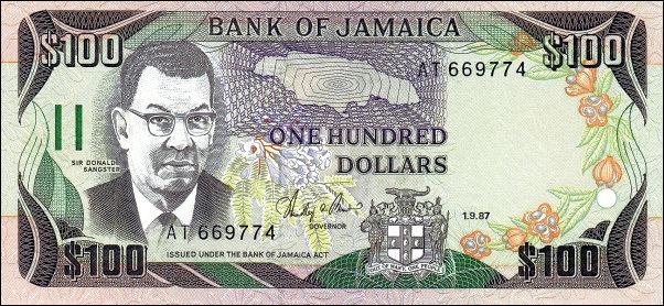 Jamaica 100 Dollars 2007 UNC**New Date