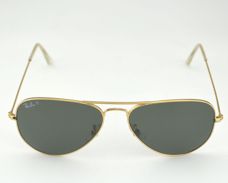 ray ban aviator polarized gold frame