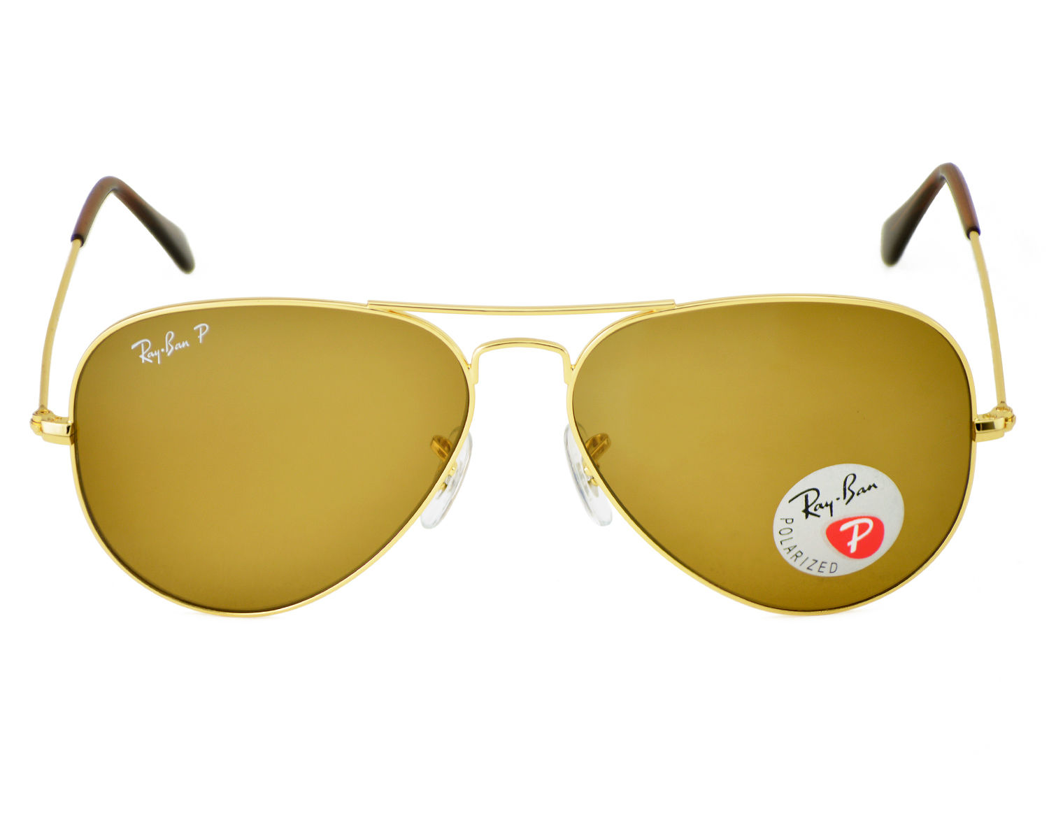 ray ban rb3025 aviator sunglasses gold brown polarized