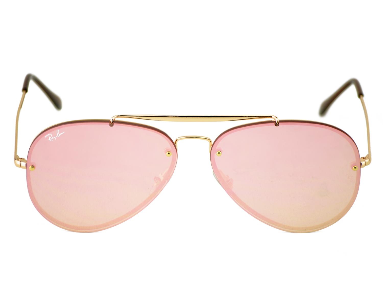 ray ban aviator gold pink mirror