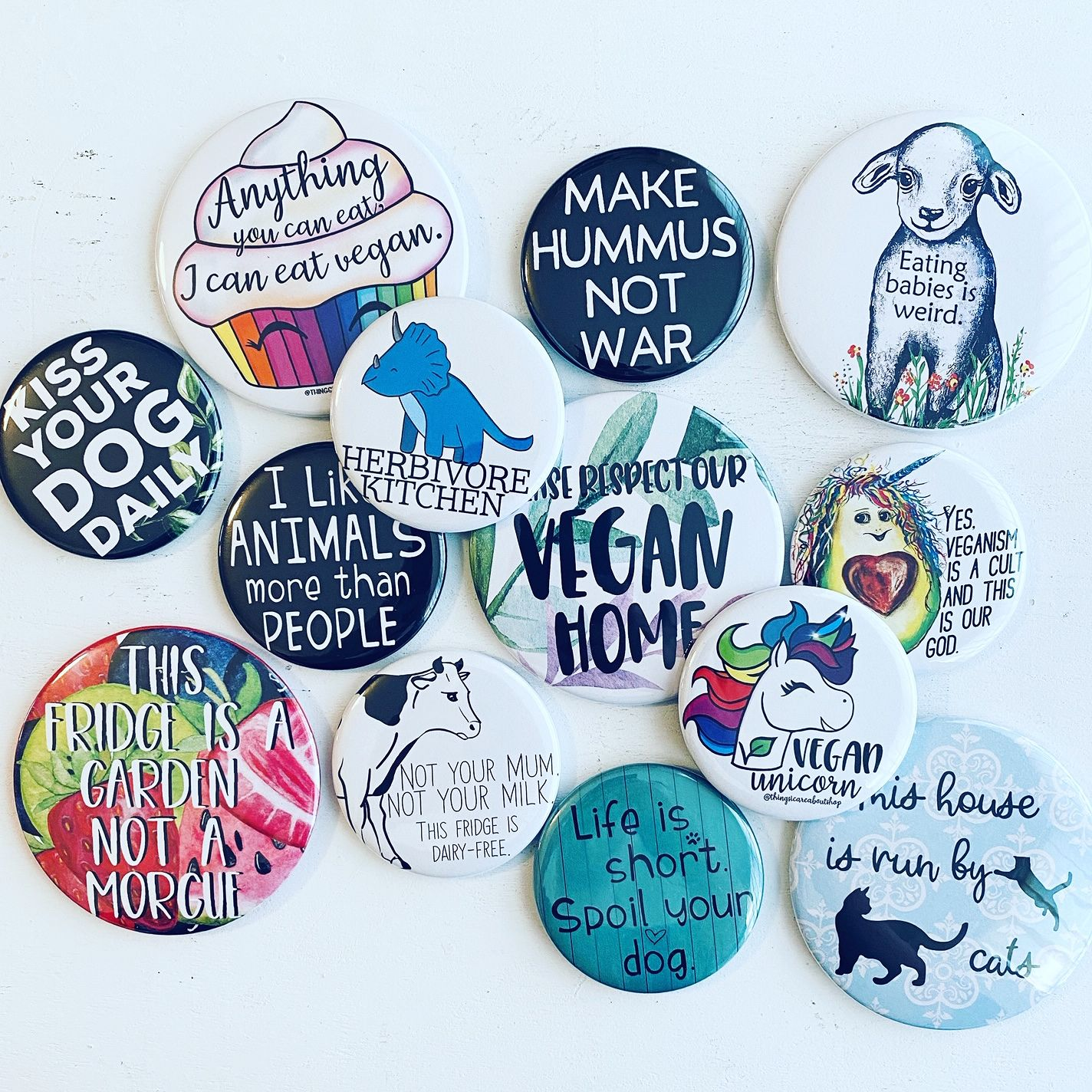 Vegan Fridge Magnet Vegan Magnet Vegan Kitchen Vegan Home