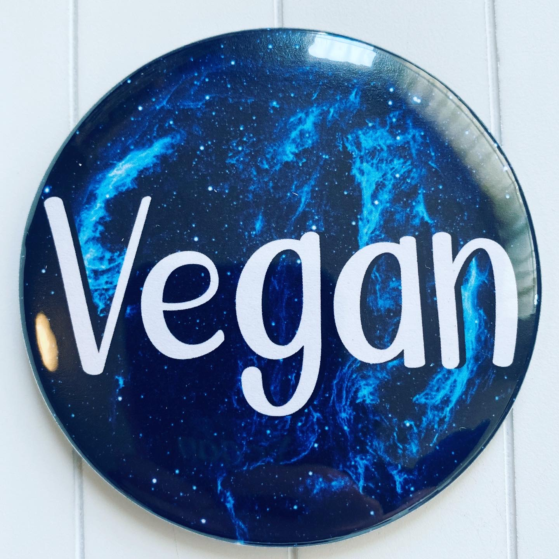 Large Galaxy Themed Vegan Fridge Magnet Vegan Kitchen Vegan Gift Ideas
