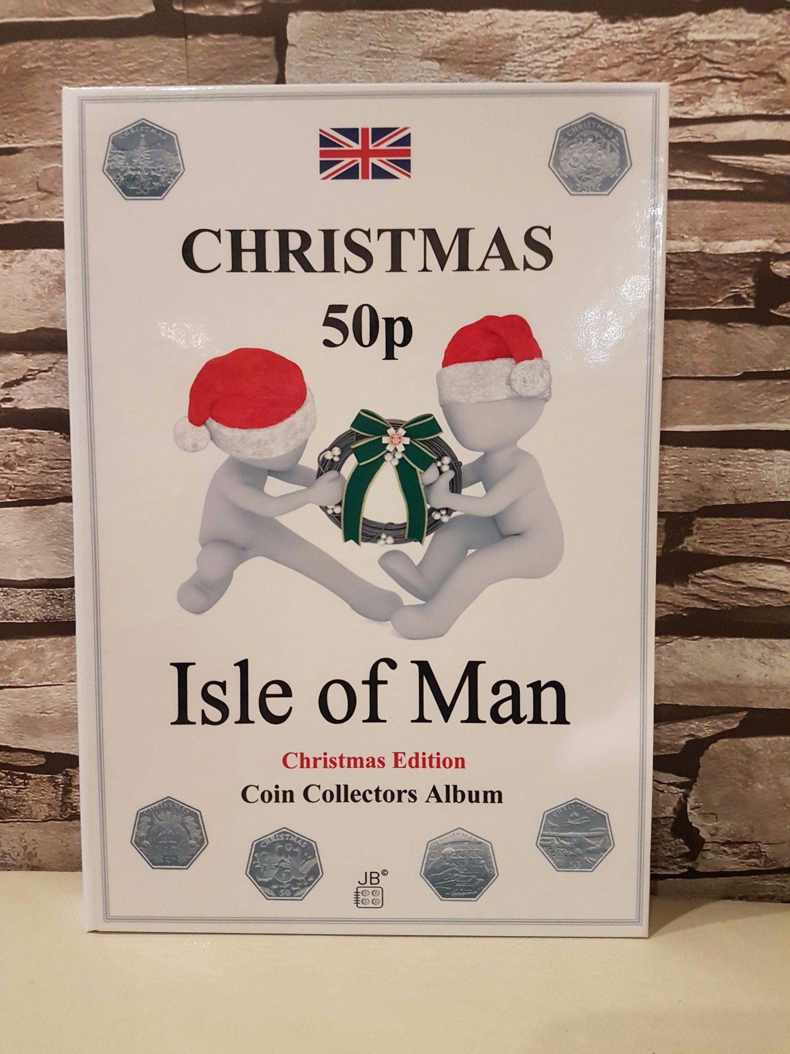 50p Isle of Man 1980-2020 Christmas coin album