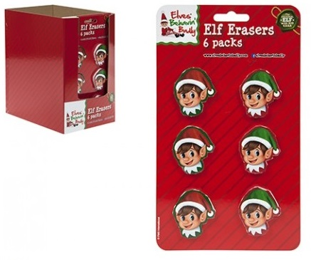 16 ~ Christmas ELF CARTOON Party Food Boxes ~ Childrens Xmas Meal Bag Plate Box