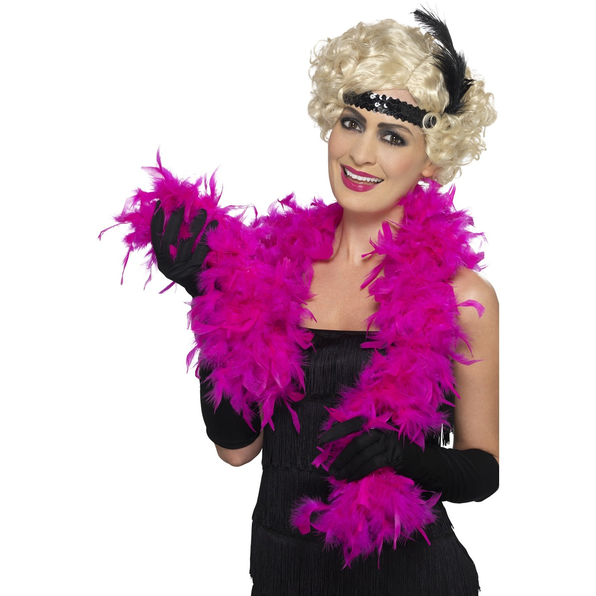 Hot Pink  Feather boa Flapper hen Stag  do,1970s Stage Costumes Fancy Dress