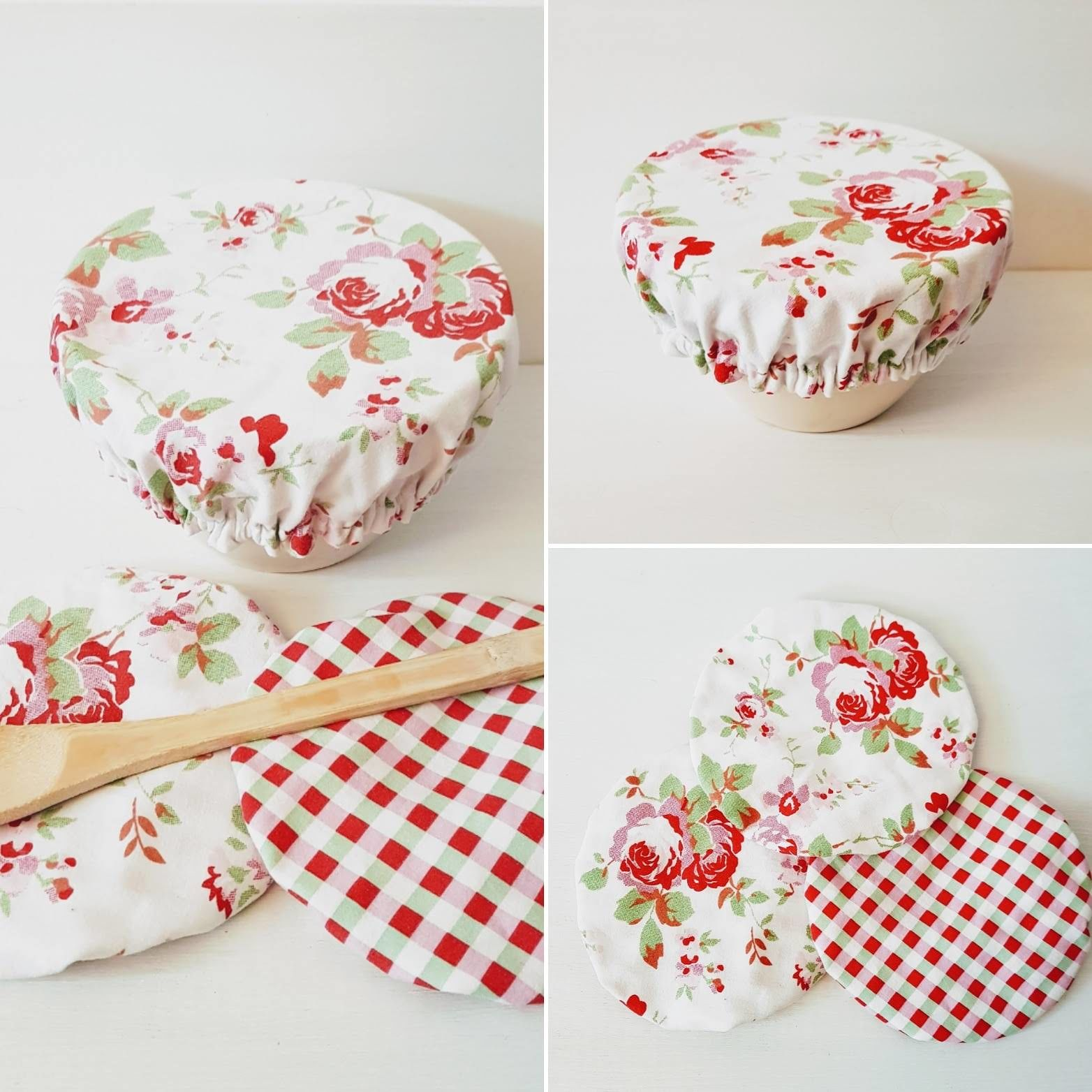 Plastic Free Bowl Covers Kitchen Decor Food Covers Eco Friendly Repurposed Gifts