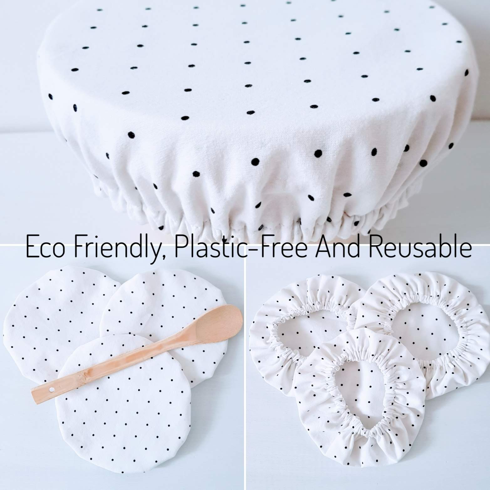 French Linen Bowl Covers Zero Waste Eco Gifts Plastic Free Kitchen Decor Table Decor Reusable Gifts