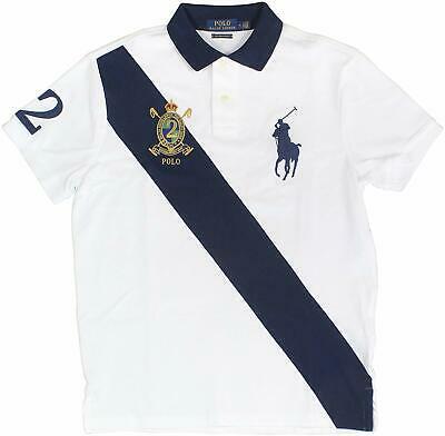 Polo Ralph Lauren Mens Big Pony Custom Slim Fit Big Pony Crest Polo