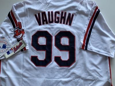 Rick Vaughn Cleveland Indians Major League movie jersey
