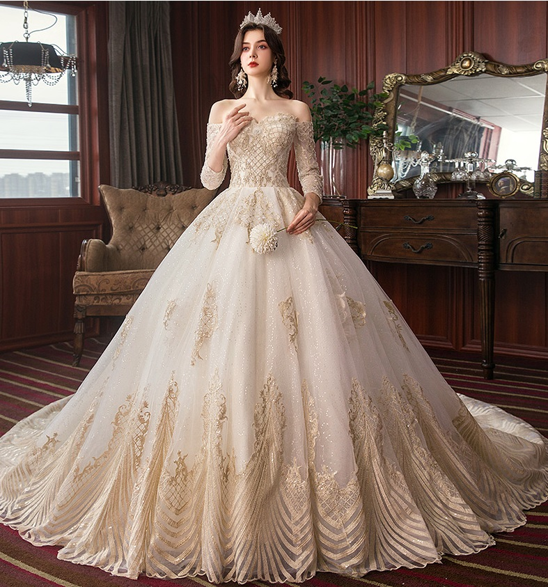 Luxury Vintage Hepburn Dream Empire Wedding Dress,Wedding Guest Fashionable Modern Indian Wedding Dresses For Girls