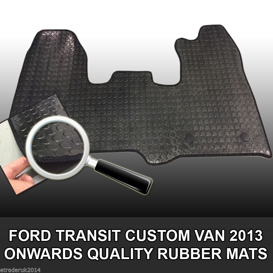 Rubber Floor Mat for VW Volkswagen T5 Double Front Tailored Fit 1 Piece Quality