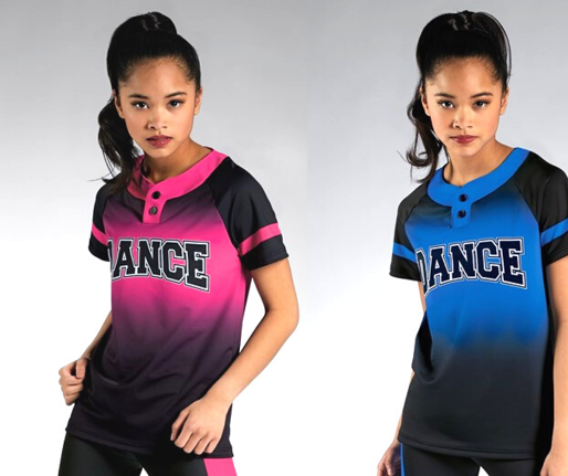 Balera Jersey Girls Top for Dance Long Sleeve with Hologram Ultra Sparkle