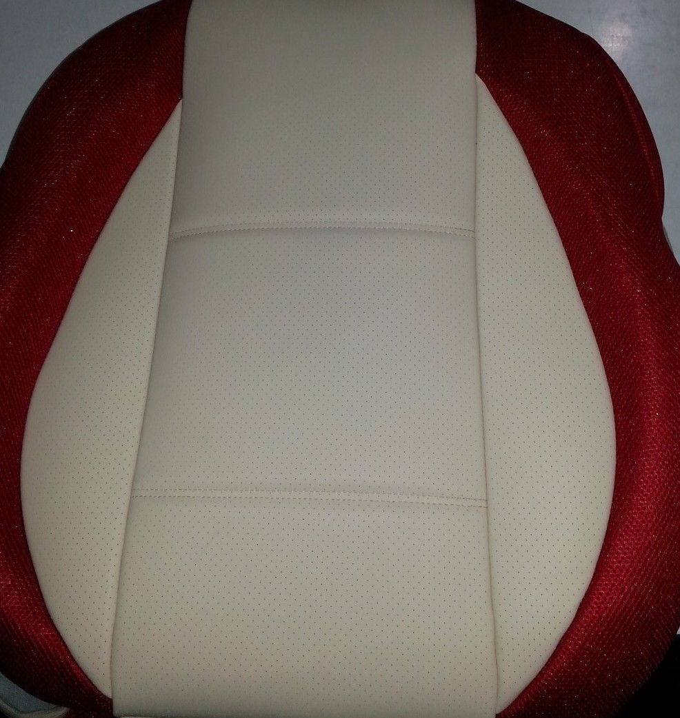 R107 C107 TAN LEATHERETTE Front SEAT COVERS Fits MERCEDES SL and SLC 1971-1989