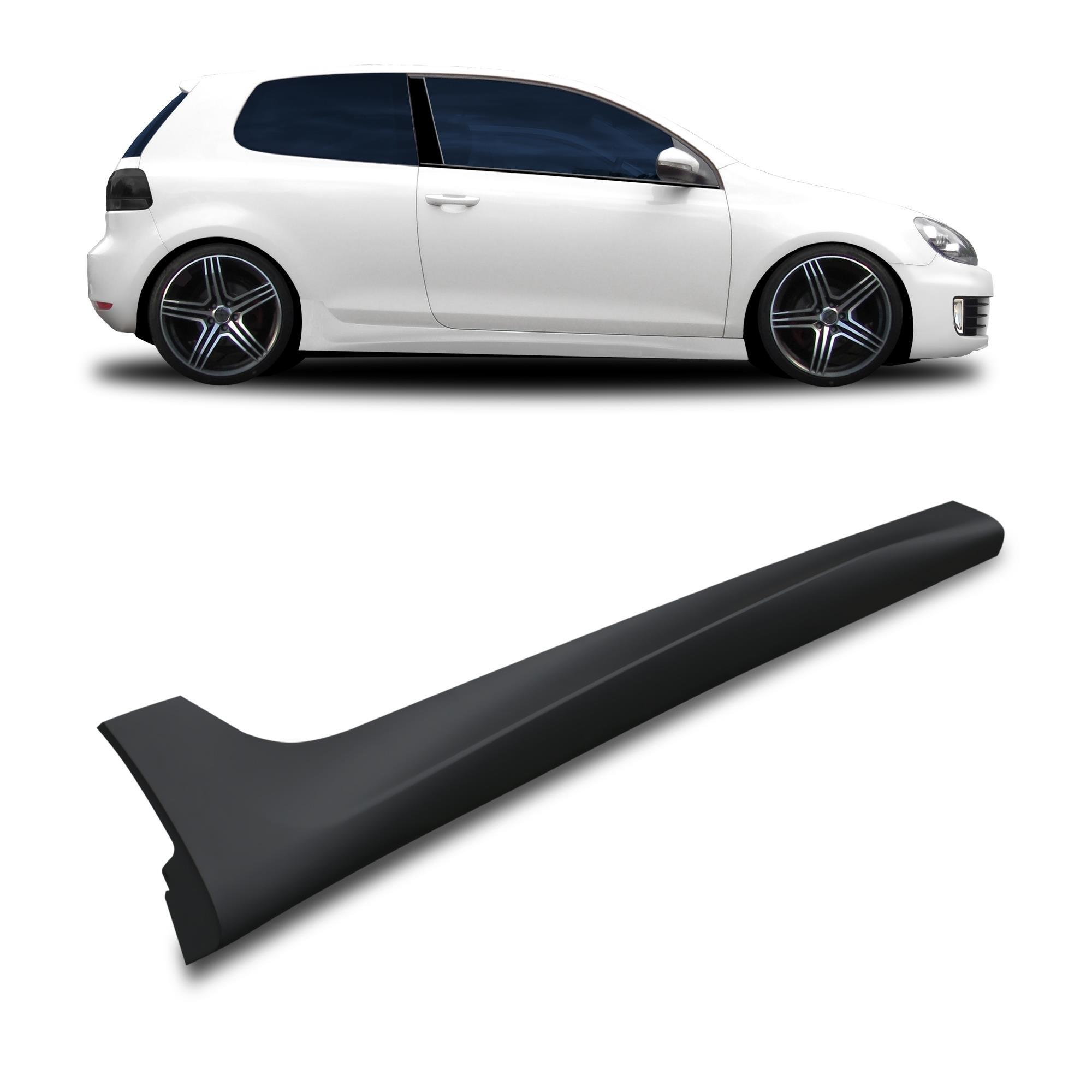 Vw Golf Mk6 Vi 09 12 Sideskirts Pair Plastic R20 Look 3dr