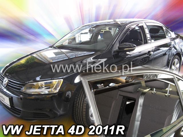 Vw Jetta Mk6 Yrs 11 On Brand New Heko 4 Piece Wind Deflectors