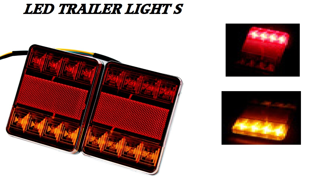 Led Truck Tail Lights >> Led Truck Tractor Trailer Lights Pair 12 Volt