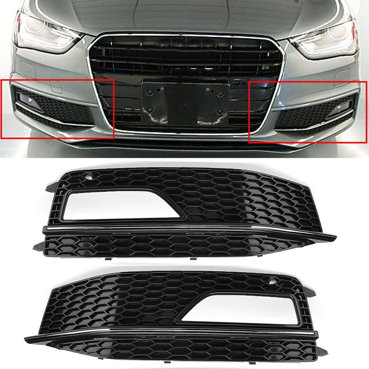 Audi A4 B8 Yrs 12 15 Honeycomb Black Foglight Grills Rs4 S Line Models