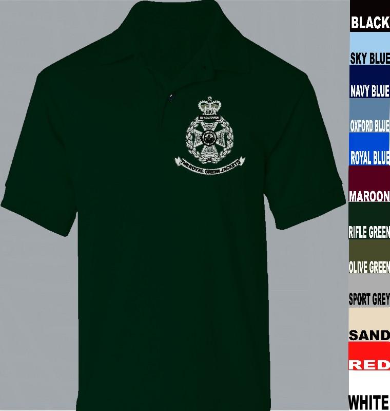 Rgj Royal Green Jackets Polo Shirts