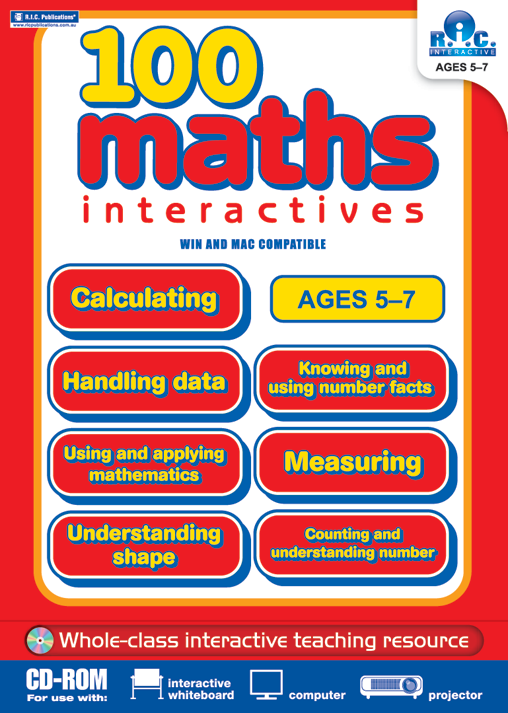 100 Maths Activities Ages 5 7 Interactive Cd Rom