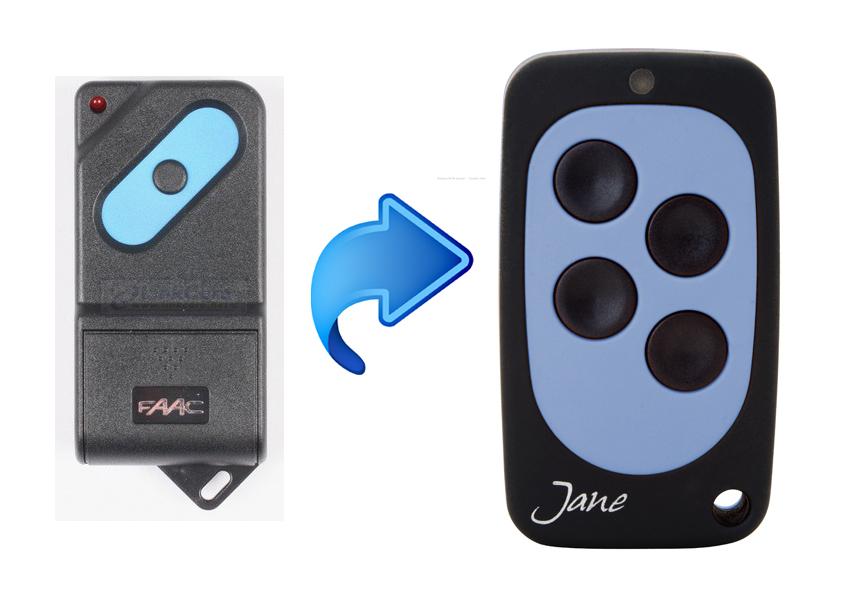 Faac Tm1 418sl Gate Remote Control Keyfob Transmitter Key Fob