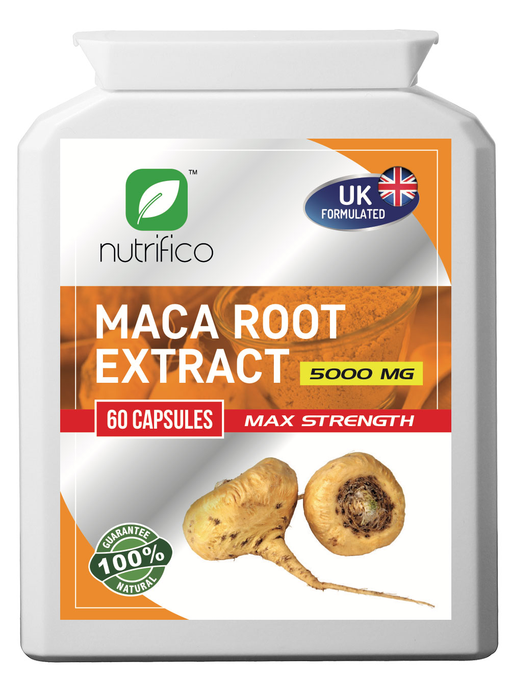 Maca Root 10:1 Extract 5000MG High Strength Concentrated Pills
