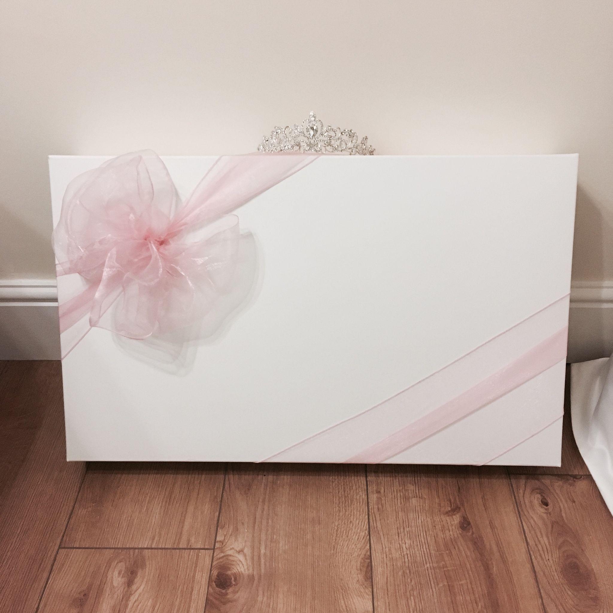 Wedding Gown Preservation Co: Large Organza Bow Wedding Dress Box