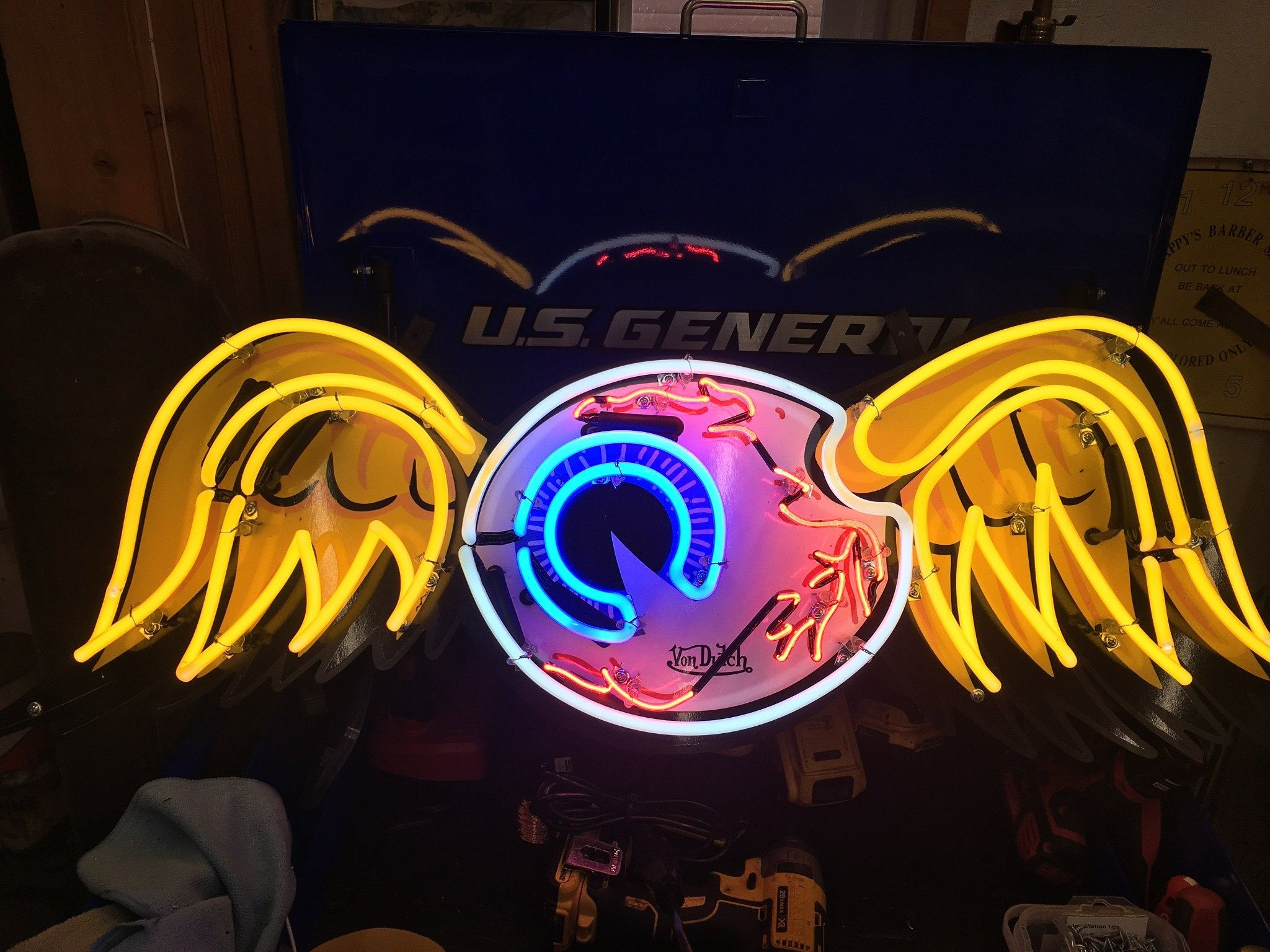 Flying Eyeball Sign Outdoor Garage Signs For Men Hot Rod Signs Man Cave Signs Gifts For Him Outdoor Garage Signs Motorcycle Sign