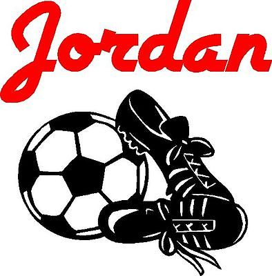 Soccer Ball and Personalized Name Wall Sticker Wall Art Decor Vinyl Decal