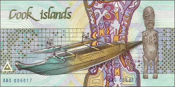 Cook Island $3 Dollars P3 1987 UNC | eBay