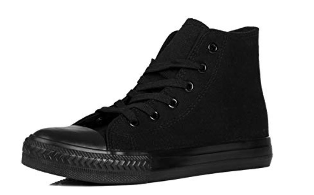 Canvas Lace Up Trainers Shoes Ankle