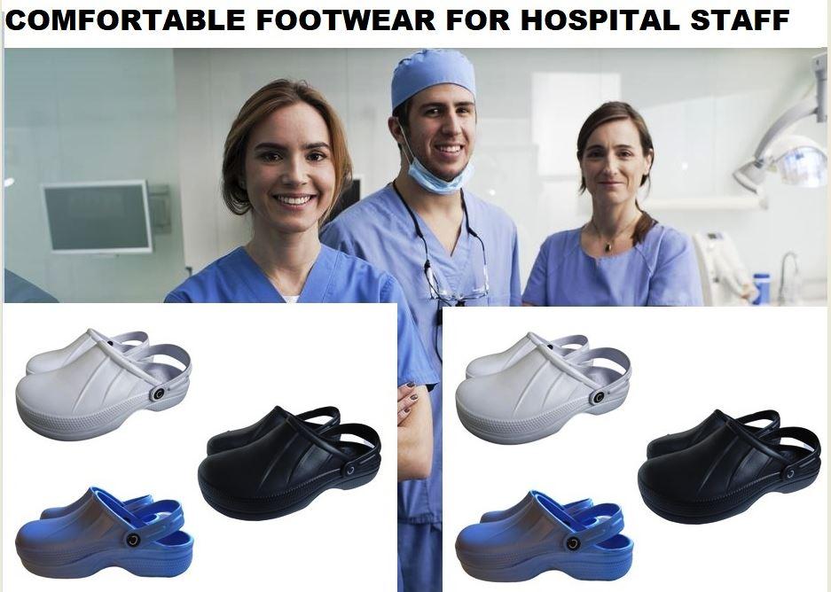 Prettyia Mens Womens Garden Kitchen Hospital Chef Nursing Work Clogs Shoes