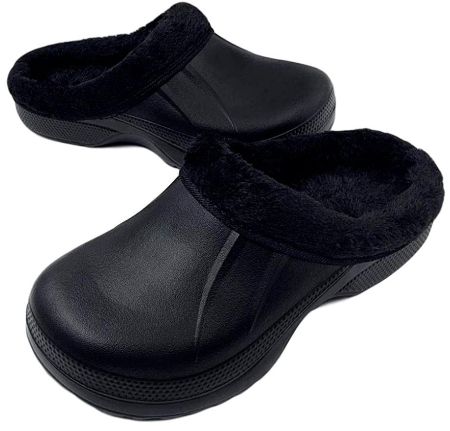 Fur Lined Clogs Full Clogs Black No
