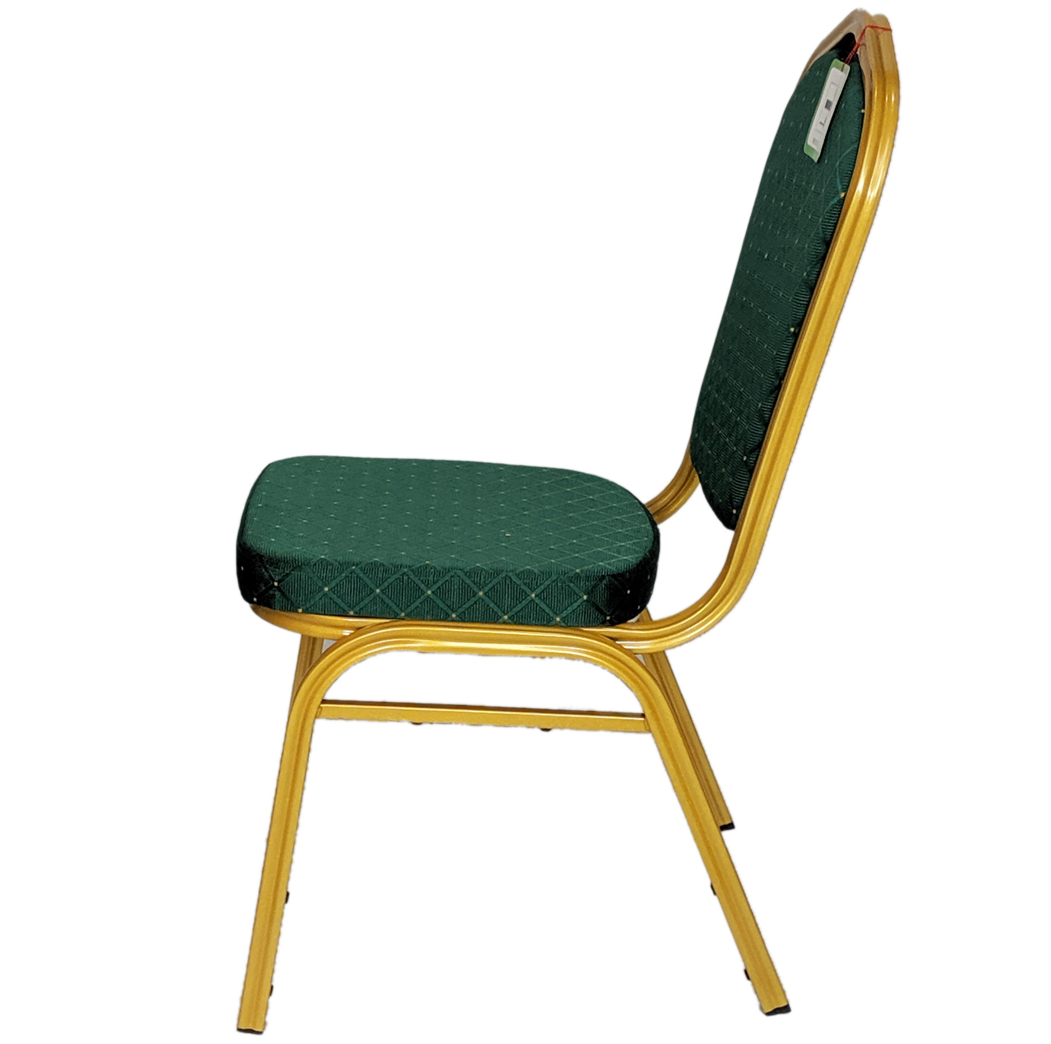 Green Gold Banqueting Restaurant Metal Stacking Conference Chairs