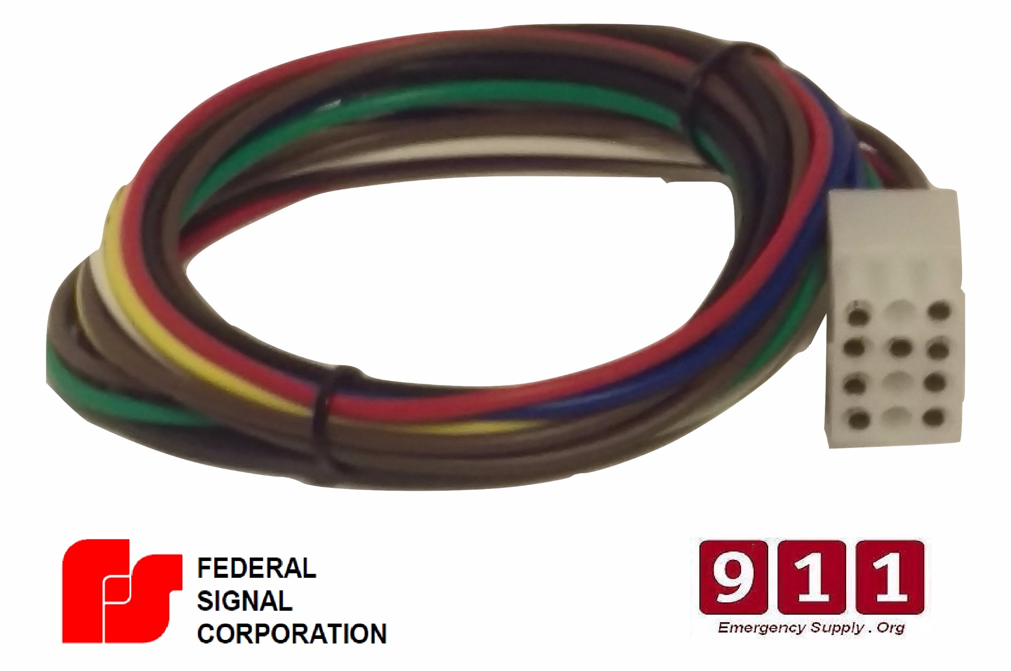 Federal Signal Siren Power Harness Plug Cable 12 Pin PA300 on