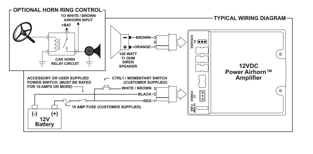 whelen power supply wiring diagram whelen power harness plug cable 3 pin x 2 pah112 power airhorn  whelen power harness plug cable 3 pin x