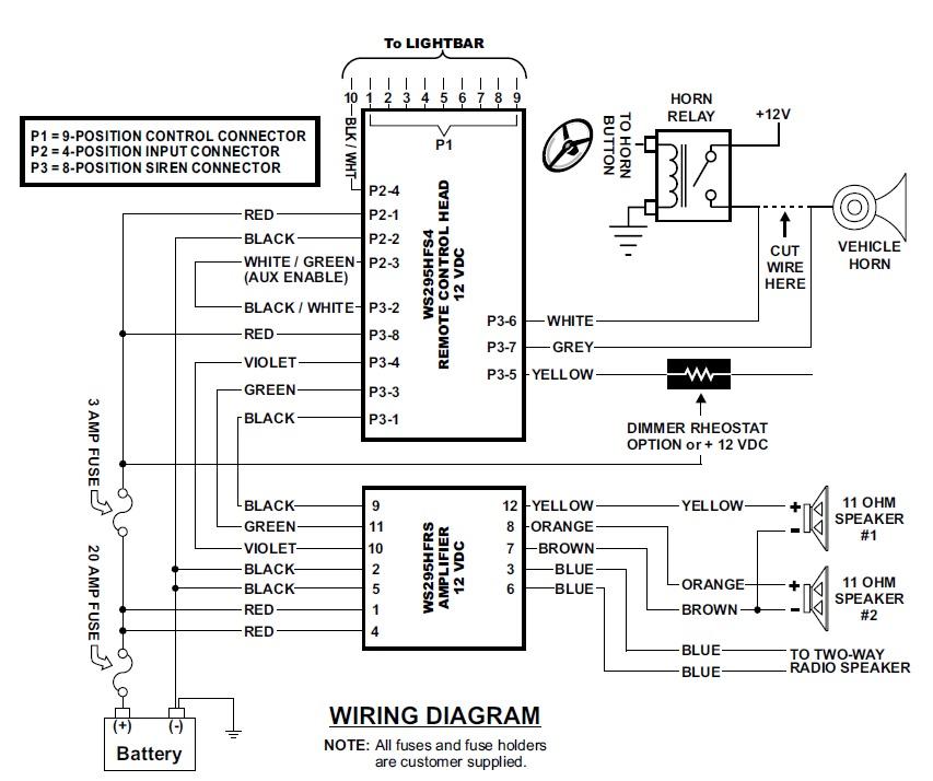 Whelen 9 and 12 Pin Cable Plug Kit CenCom Gold