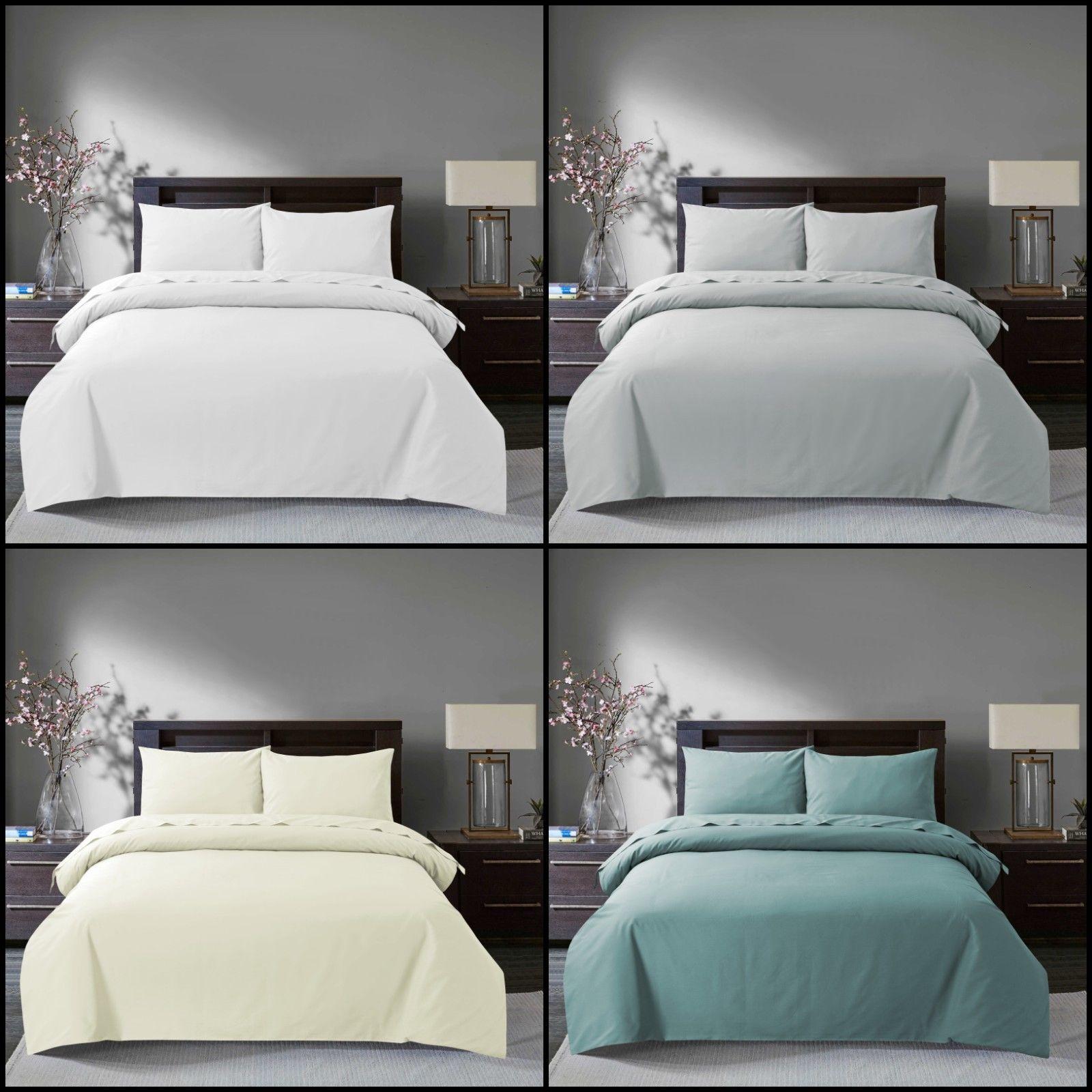 Luxury 100/% Egyptian Cotton Duvet Quilt Cover Pillowcase Bedding Set All Sizes