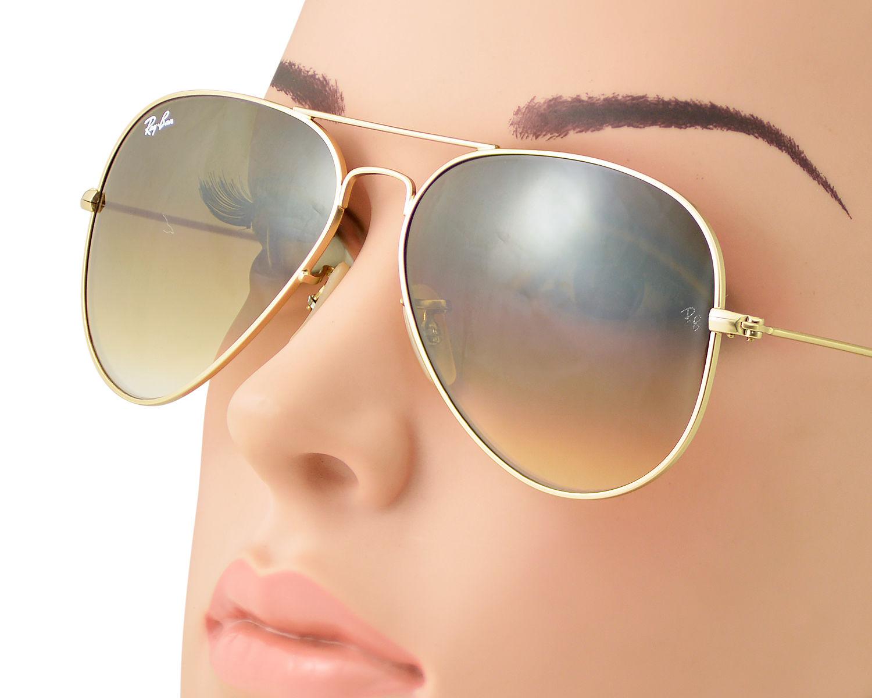 ray ban aviators brown gradient gold frame