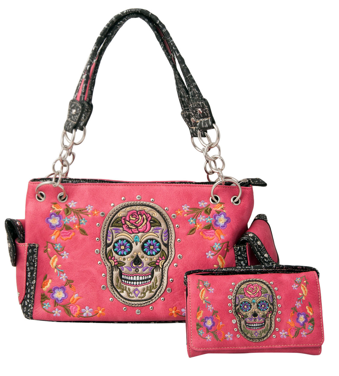 Banned Hibiscus Purse Sugar Skull Wallet Alternative Floral