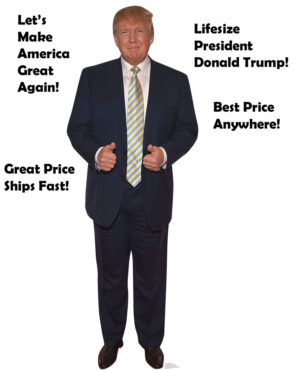 Trump Cardboard Cutouts Donald Trump Cardboard Cutouts Life size cheap! Sale!
